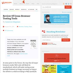 Review Of Cross-Browser Testing Tools - Smashing Magazine