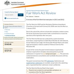 Fair Work Act Review