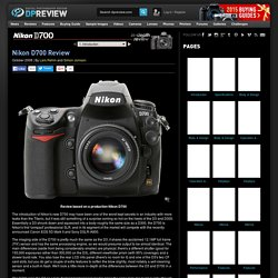 Nikon D700 Review: 1. Introduction