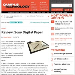 Review: Sony Digital Paper