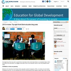 2015 in review: Top eight World Bank education blog posts