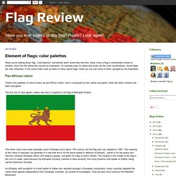 Flag Review: Element of flags: color palettes