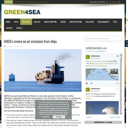 AMSA's review on air emissions from ships