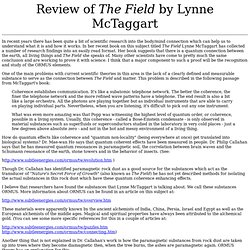 Review of The Field by Lynne McTaggart
