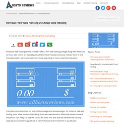 Review: Free Web Hosting vs Cheap Web Hosting