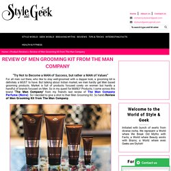 Review of Men Grooming Kit from The Man Company