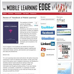 "Review of ""Handbook of Mobile Learning"""