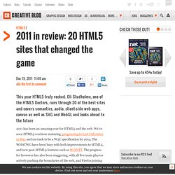 2011 in review: 20 HTML5 sites that changed the game