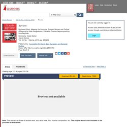 Review on JSTOR
