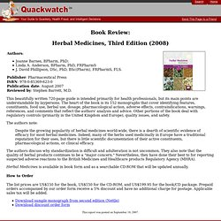Book Review: Herbal Medicines, Third Edition (2008)