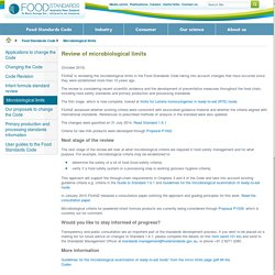 FOODSTANDARDS_GOV_AU - MARCH 2015 - Review of microbiological criteria (second stage)