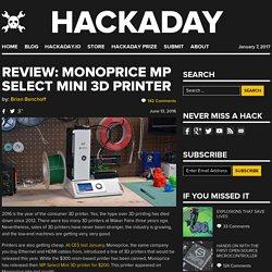 Review: Monoprice MP Select Mini 3D Printer