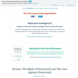 Review: The Myth of Homework and The Case Against Homework