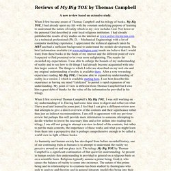 "Review of ""My Big TOE"" by Tom Campbell"