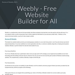 Review of Weebly 2021