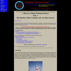 A Review of Plastic-Frictional Theory (Part. 1)