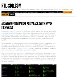 A Review of the HackRF PortaPack (With Havok Firmware) - rtl-sdr.com