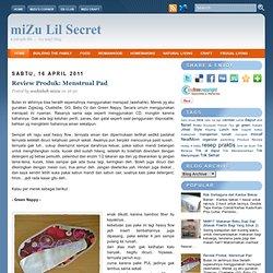 Menstrual Pad ~ miZu Lil Secret