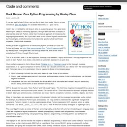 Book Review: Core Python Programming by Wesley Chun