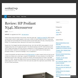 Review: HP Proliant N54L Microserver