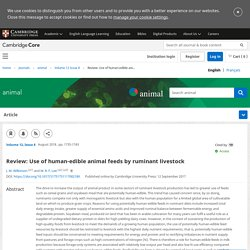 Review: Use of human-edible animal feeds by ruminant livestock