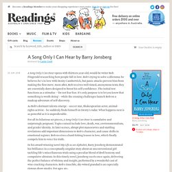Review: A Song Only I Can Hear by Barry Jonsberg