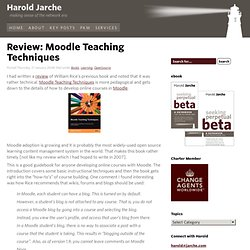 Review: Moodle Teaching Techniques