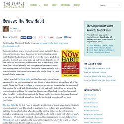 """The now habit"" de Neil Fiore 