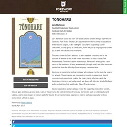 Review of Tonoharu (9780980102314)