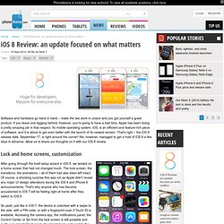 iOS 8 Review: an update focused on what matters