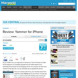 Review: Yammer for iPhone | iPhone Central