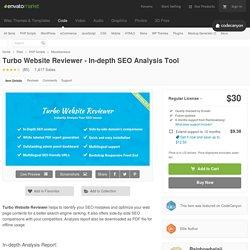 Turbo Website Reviewer - In-depth SEO Analysis Tool by Rainbowbalaji