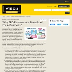 Why SEO Reviews are Beneficial for a Business