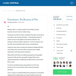 Reviews for The Business of Film from FutureLearn