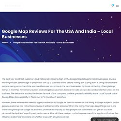 Google Map Reviews For The USA And India - Local Businesses - KevinMax