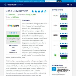 Zoho CRM Review 2014
