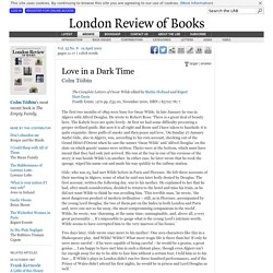 Colm Tóibín reviews 'The Complete Letters of Oscar Wilde' edited by Merlin Holland and Rupert Hart-Davis · LRB 19 April 2001