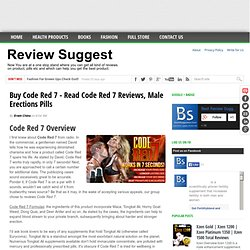 Buy Code Red 7 - Read Code Red 7 Reviews, Male Erections Pills