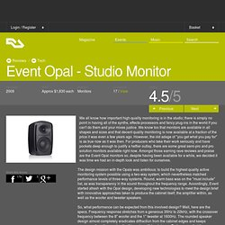 RA Reviews: Event Opal - Studio Monitor (Tech)