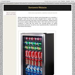 Tips For Acquiring a Drink Cooler Online