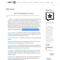 SEO Tool Reviews 2016 - shinyobjectreviews.com