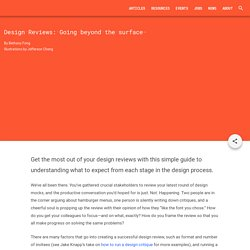 Design Reviews: Going beyond the surface - Articles