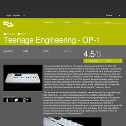 RA Reviews: Teenage Engineering - OP-1 (Tech)