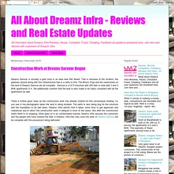 All About Dreamz Infra - Reviews and Real Estate Updates: Construction Work at Dreamz Sarovar Began
