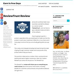 ReviewTrust Review - Is The Software By Jimmy Kim Worth It?