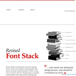 Revised Font Stack