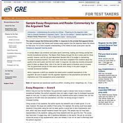 revised gre issue essay