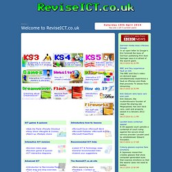 ReviseICT.co.uk - interactive revision materials to help learn ICT