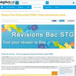 Réviser l'Eco-Droit au Bac STMG - Fiches de révisions Eco-Droit