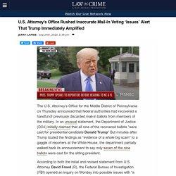DOJ Revises Claim on Discarded Trump Votes